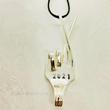 2021 Fingers Crossed Limited Edition Silverware Necklace