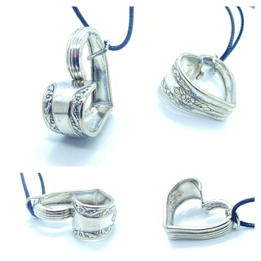 Silverware Heart Necklace