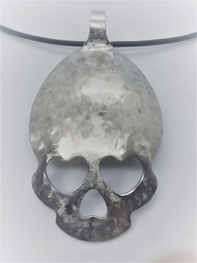 Textured Skull Necklace