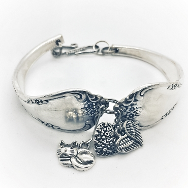 I Love Cats - Silverware Bracelet