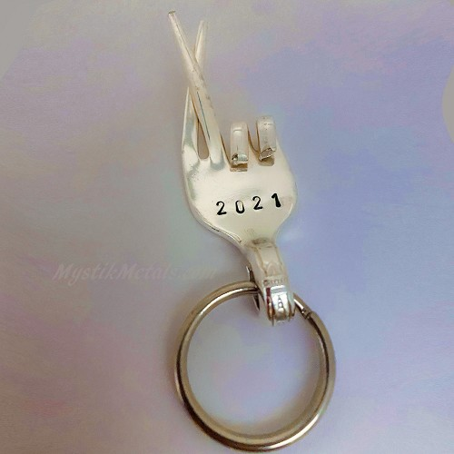 2021 Fingers Crossed Limited Edition Silverware Keychain